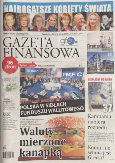 W najnowszym wydaniu Gazety Finansowej znajdziecie dodatek Ekonomia Kultury, a w nim nasz artykuł o tworzeniu domowej kolekcji dzieł sztuki i sposobach na eksponowanie jej w mieszkaniu - same praktyczne i ciekawe rady - warto czytać!