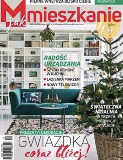"""Świąteczna edycja magazynu """"M jak Mieszkanie"""" jest pełna propozycji dodatków w intensywnych i ciepłych barwach. Obraz z naszej galerii z pewności niejedno wnętrze uczyni bardziej przytulnym i nie bez powodu pismo poleca dzieło z oferty artpower.pl."""