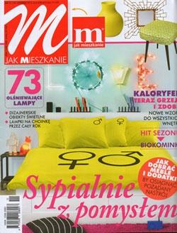 """W listopadowym numerze """"M jak mieszkanie"""" opublikowane prace z oferty artpower.pl, jako propozycje do dekoracji mieszkania utrzymanego w stonowanej kolorystyce."""