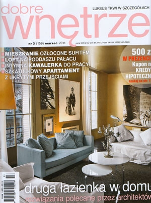 """W marcowym wydaniu magazynu """"Dobre wnętrze"""" (nr 3/2011) zaprezentowane zostały prace z naszej galerii, jako propozycje do dekoracji i ocieplenia stylowego apartamentu."""