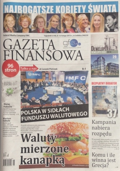Piszemy dla Gazety Finansowej!