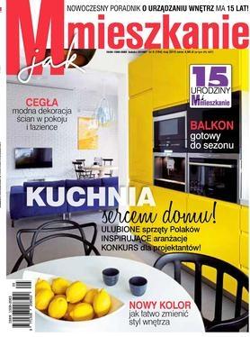 W aktualnym numerze magazynu M jak Mieszkanie znajdziecie nasz obraz jako propozycję do salonu z niebieskimi dodatkami.