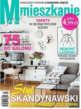 """W aktualnym numerze """"M jak Mieszkanie"""" dominują inspiracje skandynawskie, a do takiej stylistyki doskonale wpasował się obraz """"Blanc"""" Krystyny Ciećwierskiej."""