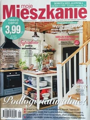 Magazyn Moje Mieszkanie poleca grafikę z naszej oferty. Mowa o serigrafii Iwony Demko, którą redaktorzy rekomendują do wnętrza utrzymanego w tonacji szarości i pomarańczu.