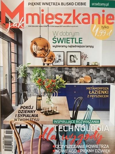 Listopadowe wydanie M jak Mieszkanie poleca jeden z obrazów z naszej oferty - jako kolorowy akcent do mieszkania utrzymanego w bieli i prostocie.
