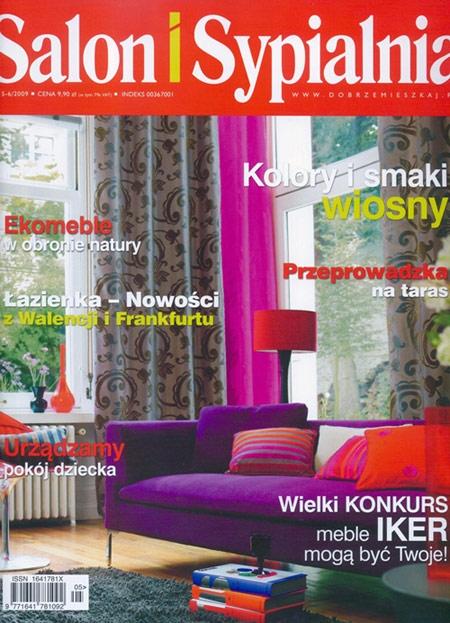 """Dwie grafiki cyfrowe z naszej oferty zostały opublikowane w aktualnym wydaniu magazynu """"Salon i Sypialnia"""" (nr 5/6 2009)."""