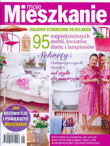 """Majowy numer magazynu o wnętrzach """"Moje mieszkanie"""" publikuje dyptyk Anny Masiul-Gozdeckiej, jako propozycję do wnętrza pełnego antyków."""