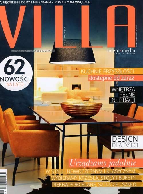 """W najnowszym wydaniu miesięcznika o wnętrzach """"Villa"""", w dziale """"Warto zobaczyć"""" ukazała się notka polecająca galerię artpower.pl czytelnikom magazynu."""