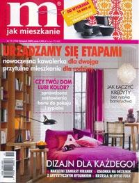 """W listopadowym numerze magazynu """"M jak mieszkanie"""" ukazała się reprodukcja obrazu z oferty artpower.pl. """"Tetris"""" autorstwa Lecha Batora to obraz z postacią, który według pisma, może w pomieszczeniu wprowadzić element ruchu, a wyraziste barwy zgrają się z wnętrzem w nowoczesnym stylu."""