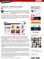 Artykuł na temat artpower.pl w blogu AntyWeb