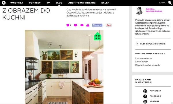 Dla Dom z Pomysłem: Z obrazem do kuchni