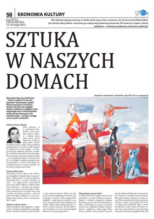 Gazeta Finansowa: Sztuka w naszych domach