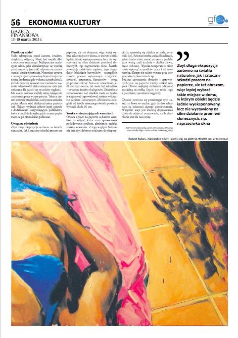 Gazeta Finansowa: Obrazy nie tylko na salonach
