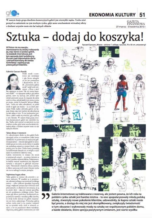 Gazeta Finansowa Sztuka - dodaj do koszyka!
