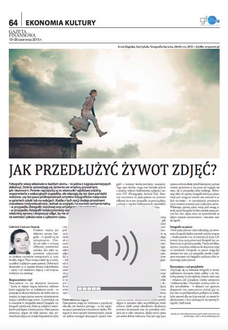 Gazeta Finansowa: Jak przedłużyć żywot fotografii