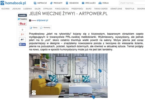 Dla Homebook.pl: Jeleń wiecznie żywy