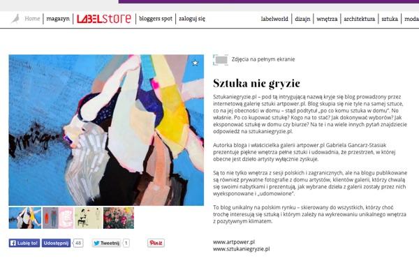 Label Magazine o naszym blogu