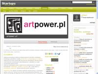 artpower.pl na stronach serwisu Startups.pl