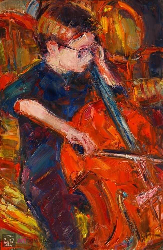 Chłopiec z wiolonczelą