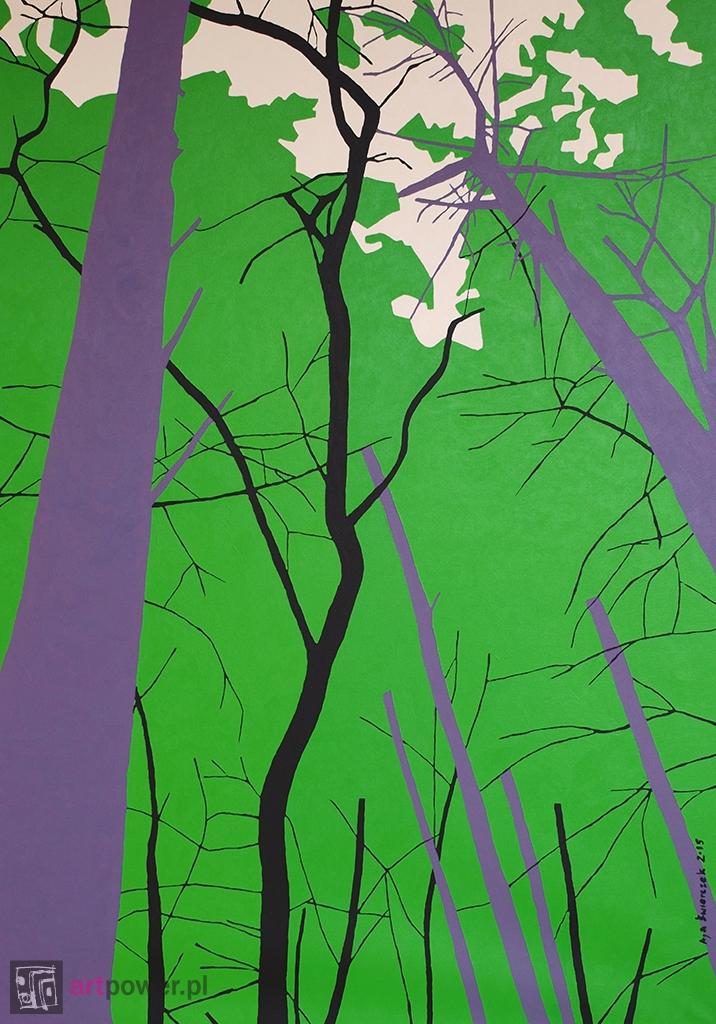 Zielono - akacja, buki, sosny