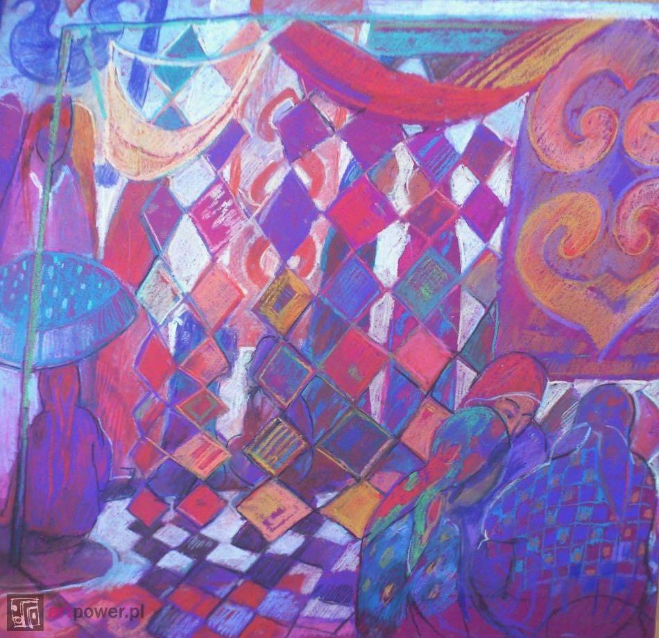 Kwadraciki. Bazar w Aszchabadzie