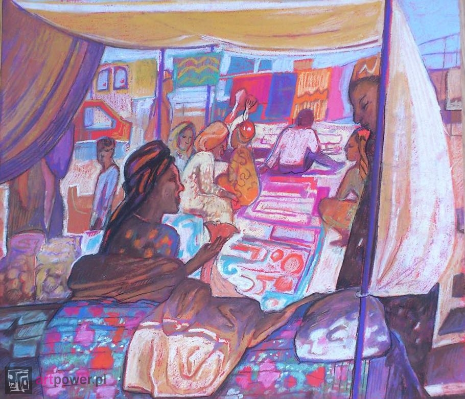 Kram. Bazar w Aszchabadzie