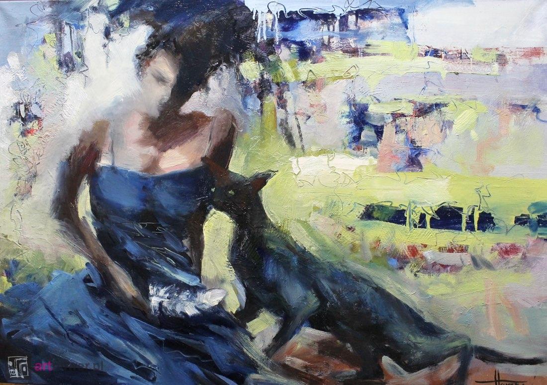 Kobieta z piórkiem