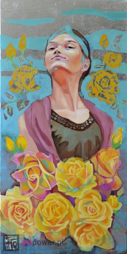 Dumna królowa żółtych róż