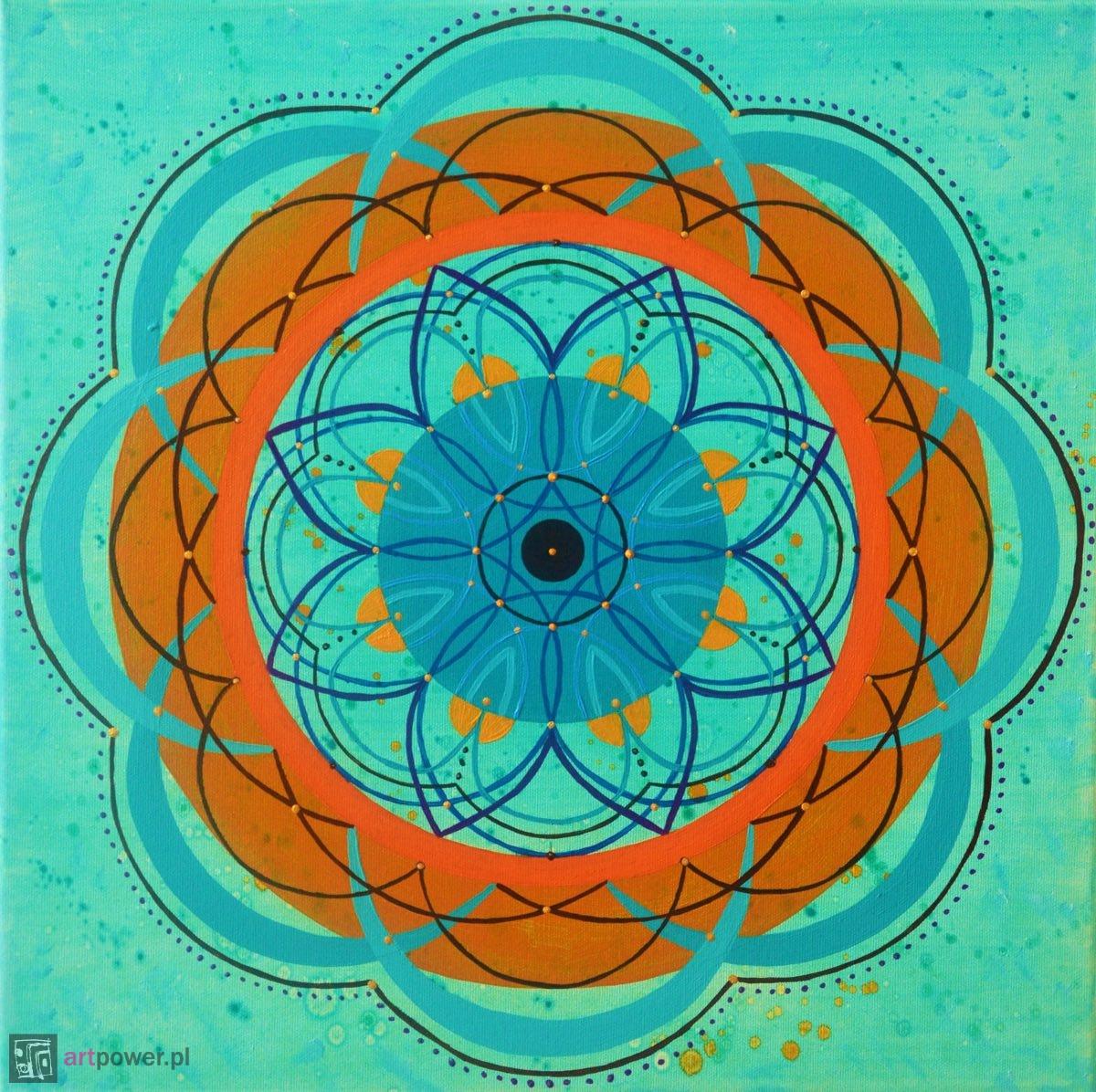 Mandala turkusowa