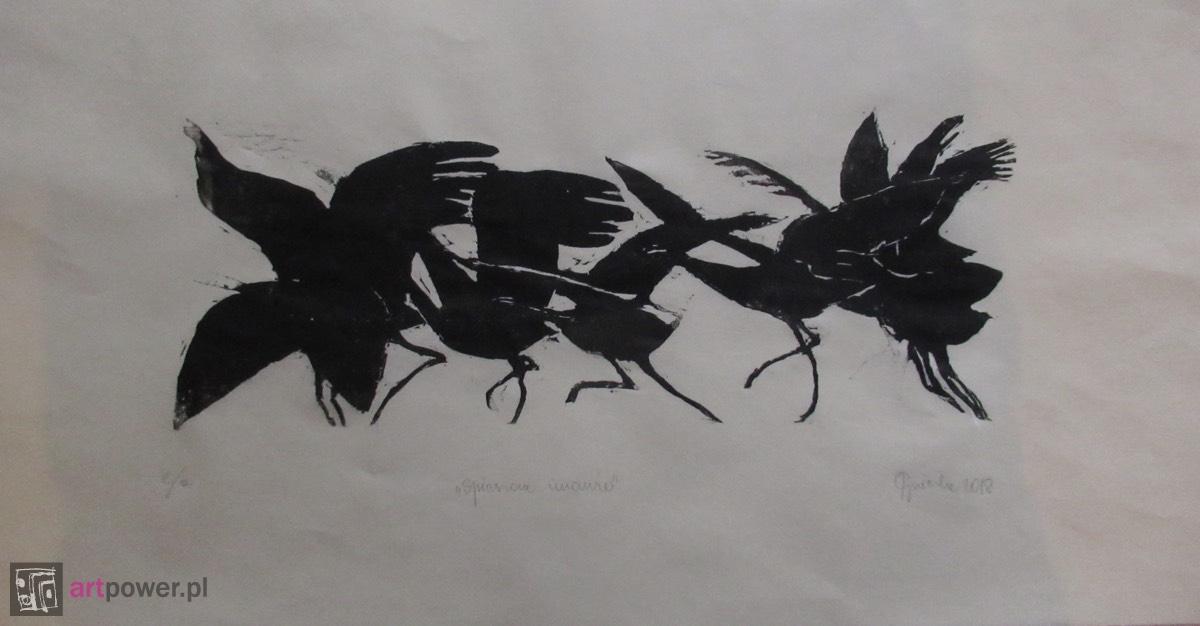 Uciekające żurawie