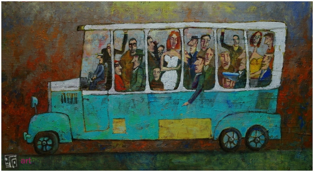 Autobus jadący w lewo