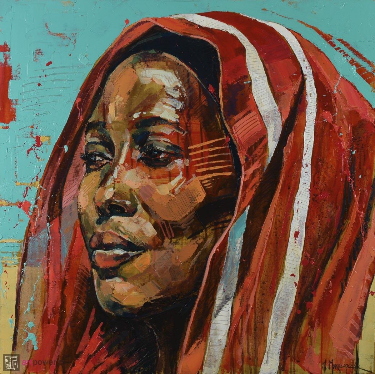 Kobieta z nadmorskiej wioski