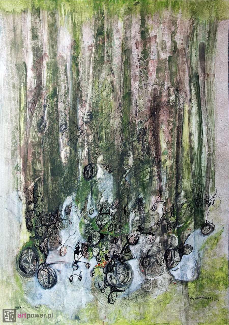 Rowery na brzegu lasu