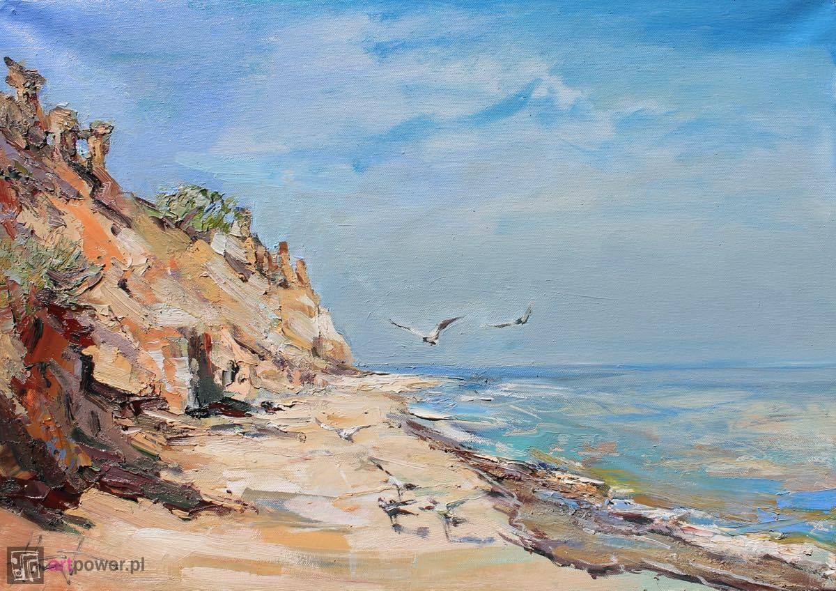 Mewy nad morzem