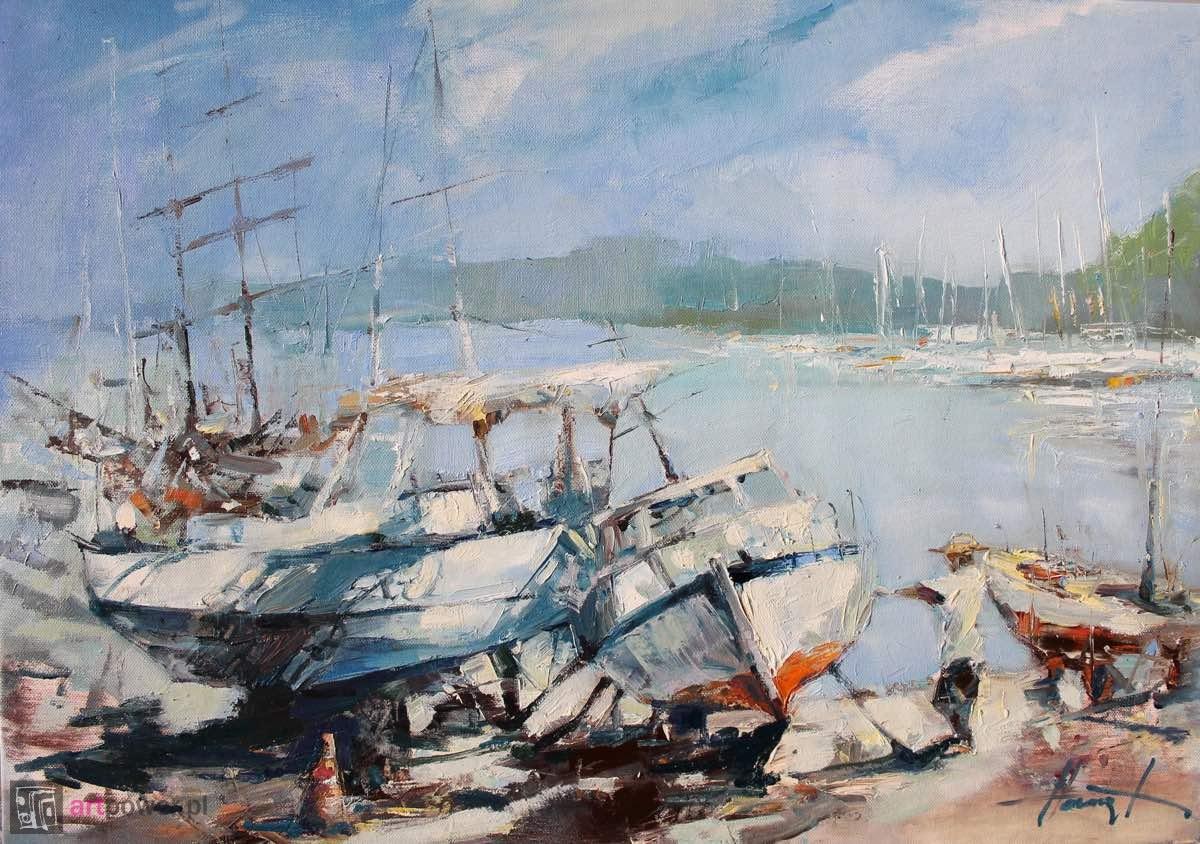 Jachty w doku