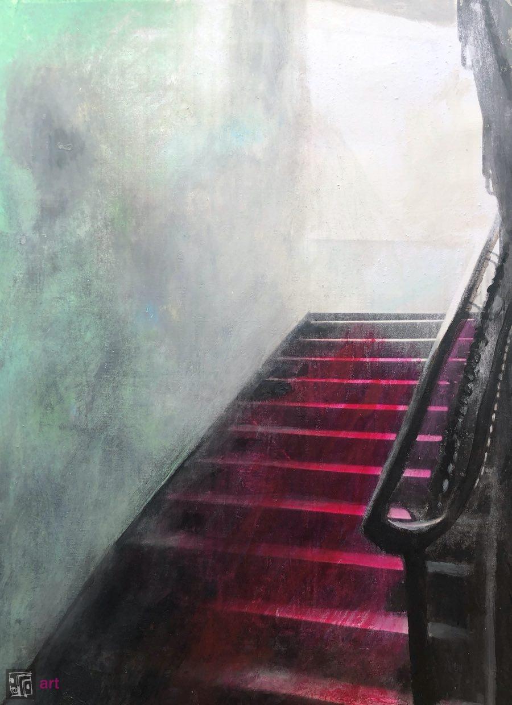 Akt schodzący po schodach