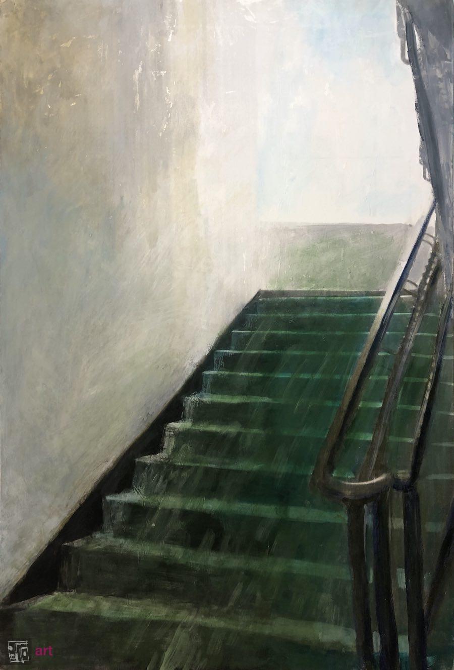 Zielone schody