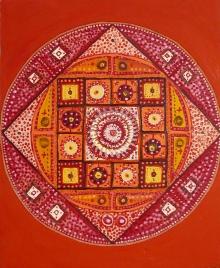 Mandala czerwona