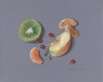 Kiwi, granat, mandarynka