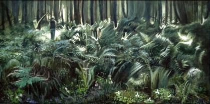 Las - kwiat paproci